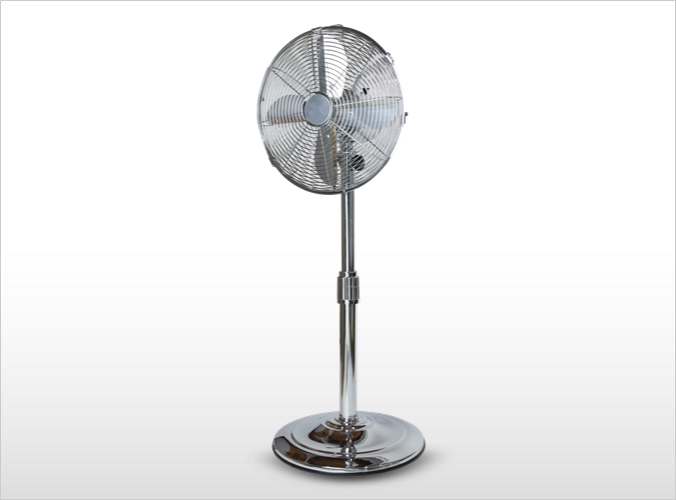 インテリア扇風機 シルバー CH-3020