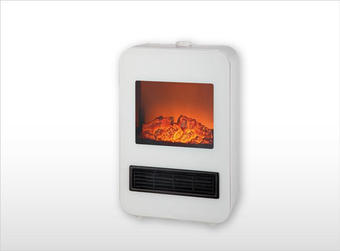 暖炉型セラミックファンヒーター 1200W TD-S1200(W)