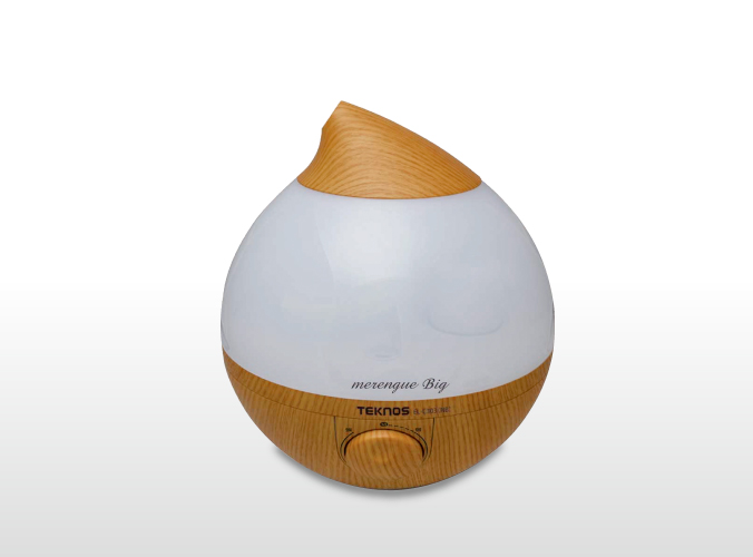 滴型超音波加湿器 3.6Lメレンゲ big ナチュラルブラウン EL-C303(NB)