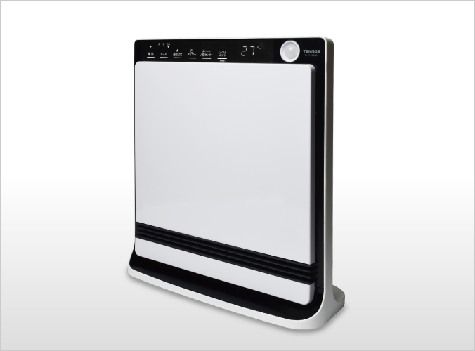 人感センサー付き消臭セラミックファンヒーター 1200W TS-P1220(W)