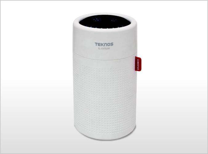 USB充電式円筒形超音波加湿器 0.75L ホワイト EL-C075UW
