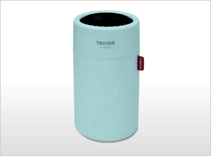USB充電式円筒形超音波加湿器 0.75L ブルー EL-C076UB