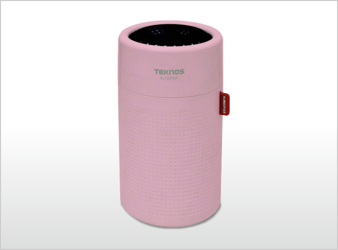 USB充電式円筒形超音波加湿器 0.75L ピンク EL-C077UP