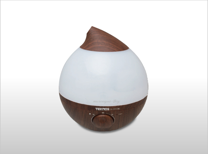 LED 超音波加湿器 3.6Lメレンゲ big Ag+カートリッジ ダークブラウン EL-C315(DB)