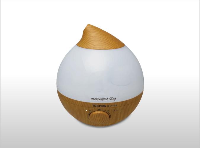 LED 超音波加湿器 3.6Lメレンゲ big Ag+カートリッジ ナチュラルブラウン EL-C315(NB)